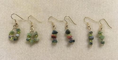 Mary and Mavis beaded earrings class Cocoa August 2018
