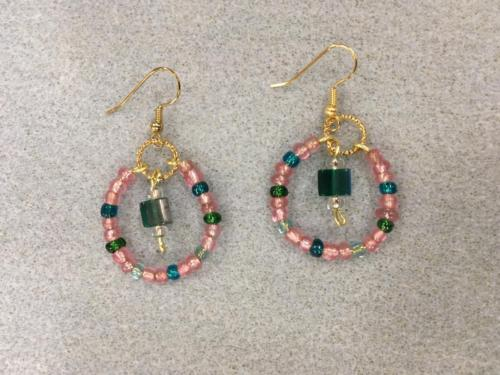 Linda's hoop beaded earrings Mims September 2018